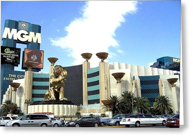 Mgm Greeting Cards - MGM In Las Vegas Greeting Card by Will Borden