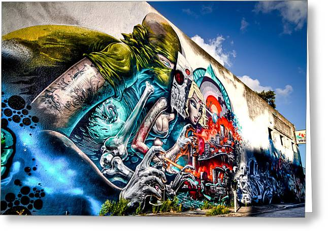 Miami Art In Wynwood District Greeting Card by Andres Leon