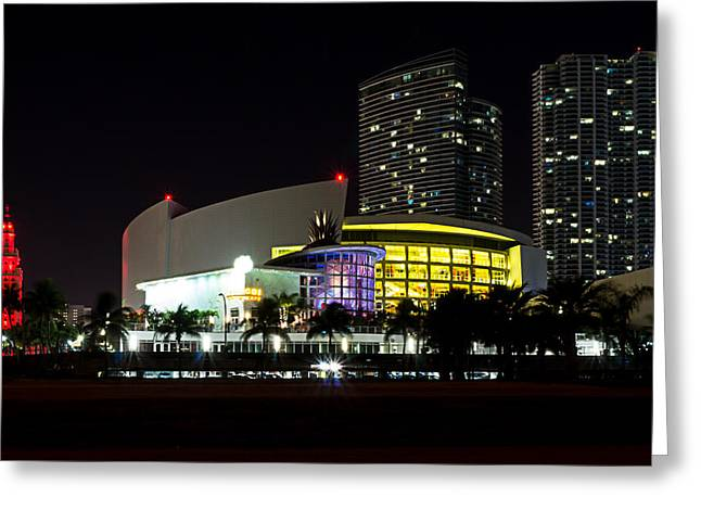 Miami Heat Greeting Cards - Miami Nights 4 Greeting Card by Brian Leon