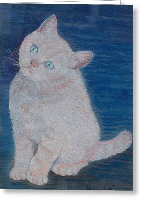 Miaow Greeting Card by Noreen Hegarty