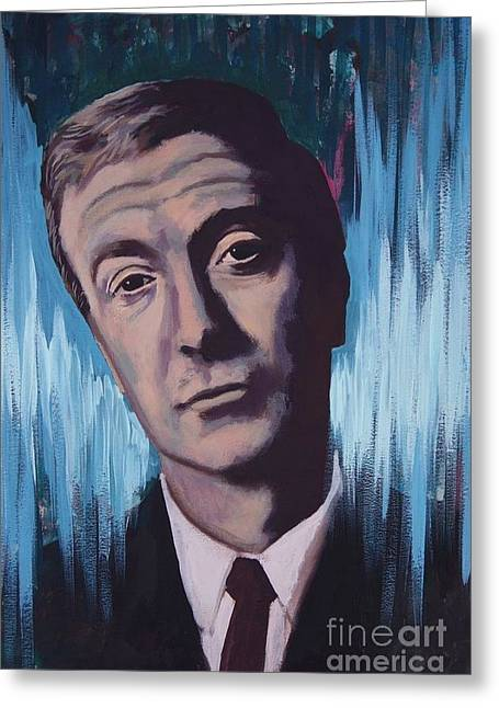 Illustrative Mixed Media Greeting Cards - Michael Caine Greeting Card by James Flynn