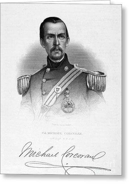 Brigade Greeting Cards - Michael Corcoran (1827-1863) Greeting Card by Granger