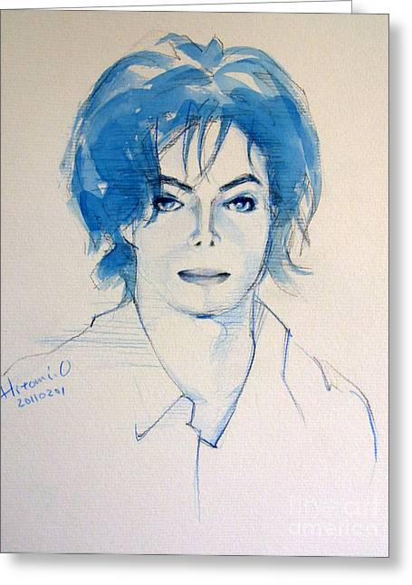 Michael Jackson - Gimme Your Wings Greeting Card by Hitomi Osanai