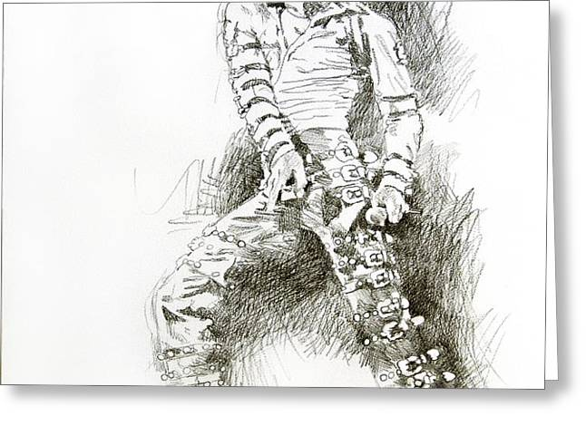 Michael Jackson - Onstage Greeting Card by David Lloyd Glover
