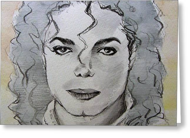 Michael Jackson - Planet Michael Greeting Card by Hitomi Osanai