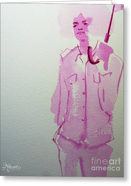 Mj Drawing Greeting Cards - Michael Jackson - shiny day Greeting Card by Hitomi Osanai