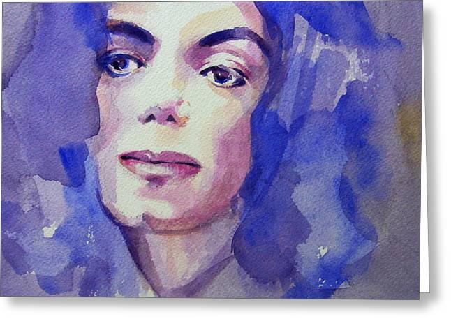 Mj Paintings Greeting Cards - Michael Jackson - Take 5 Greeting Card by Hitomi Osanai