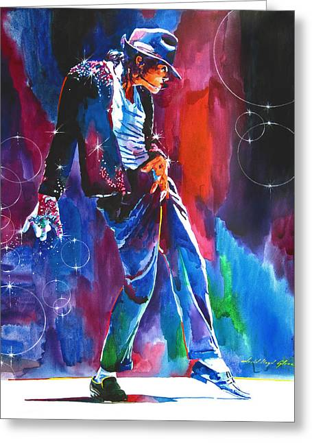 Choices Greeting Cards - Michael Jackson Action Greeting Card by David Lloyd Glover