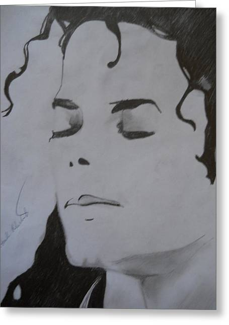 Beat It Greeting Cards - Michael Jackson Greeting Card by Ahmed Mustafa