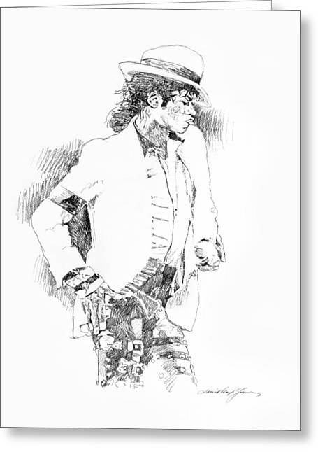Michael Jackson Art Greeting Cards - Michael Jackson Attitude Greeting Card by David Lloyd Glover