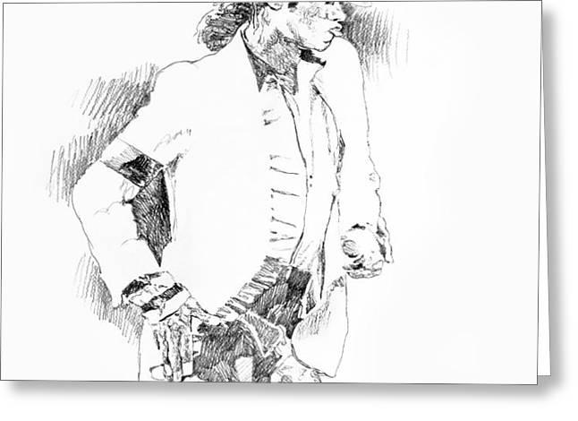 Michael Jackson Attitude Greeting Card by David Lloyd Glover