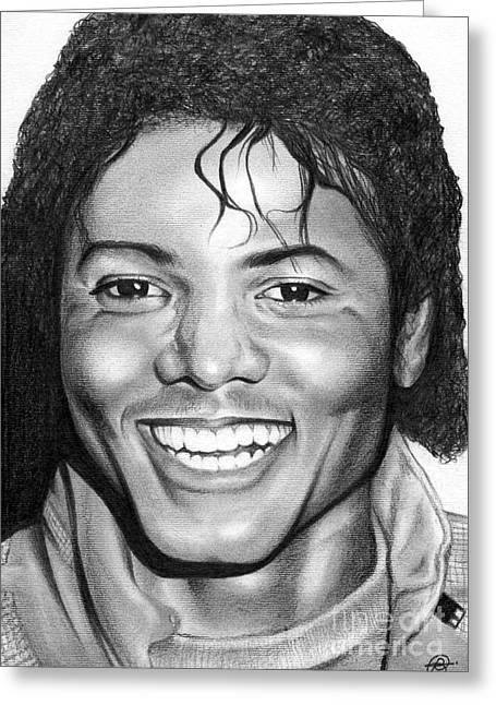 Beat It Greeting Cards - Michael Jackson Beat It Greeting Card by Becky Ellis