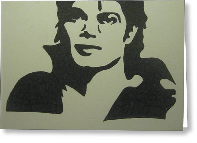 Michael Jackson Greeting Card by Damian Howell