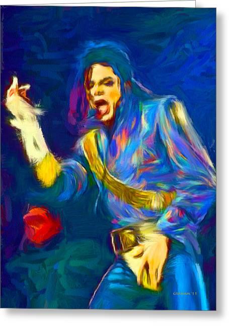 Jackson 5 Digital Art Greeting Cards - Michael Jackson Greeting Card by Dwayne  Graham