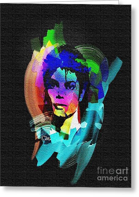 Mj Digital Art Greeting Cards - Michael Jackson Greeting Card by Mo T