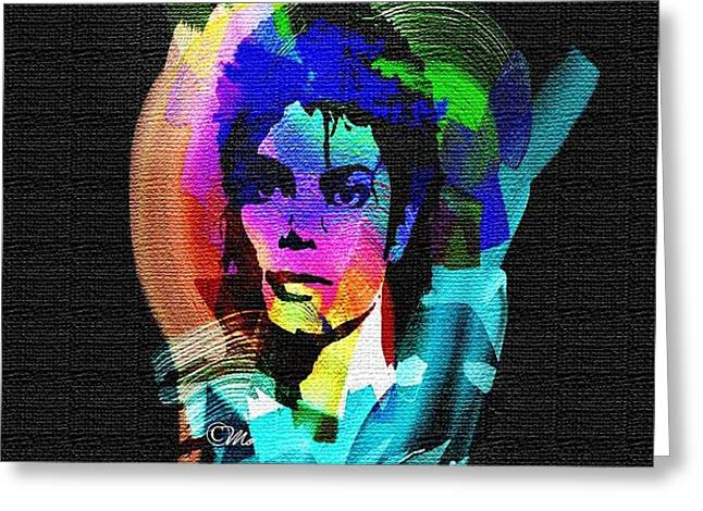Michael Jackson Greeting Card by Mo T