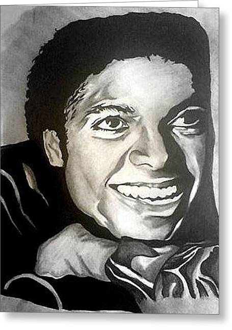 Mj Drawings Greeting Cards - Michael Jackson Greeting Card by Pauline Murphy