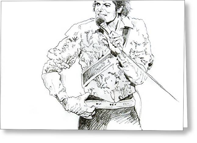 Michael Jackson Royalty Greeting Card by David Lloyd Glover