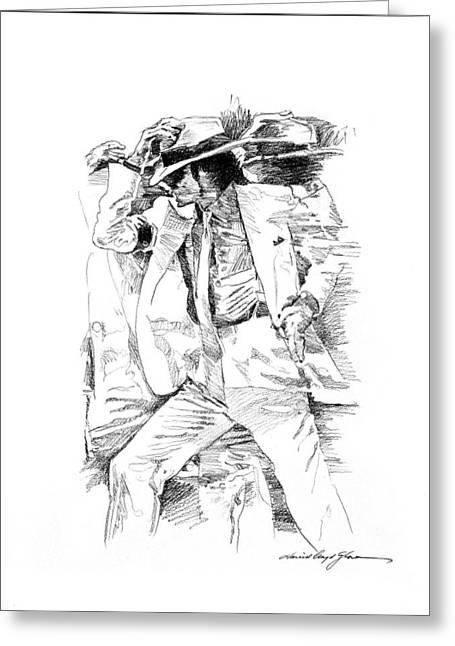 Dancing Drawings Greeting Cards - Michael Jackson Smooth Criminal Greeting Card by David Lloyd Glover