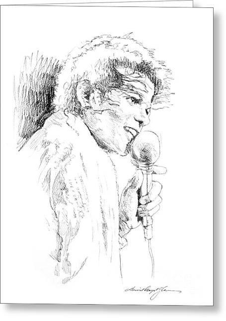 Michael Jackson Art Greeting Cards - Michael Jackson Song Greeting Card by David Lloyd Glover