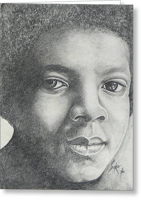 Recently Sold -  - Mj Drawings Greeting Cards - Michael Jackson Greeting Card by Stephen Sookoo