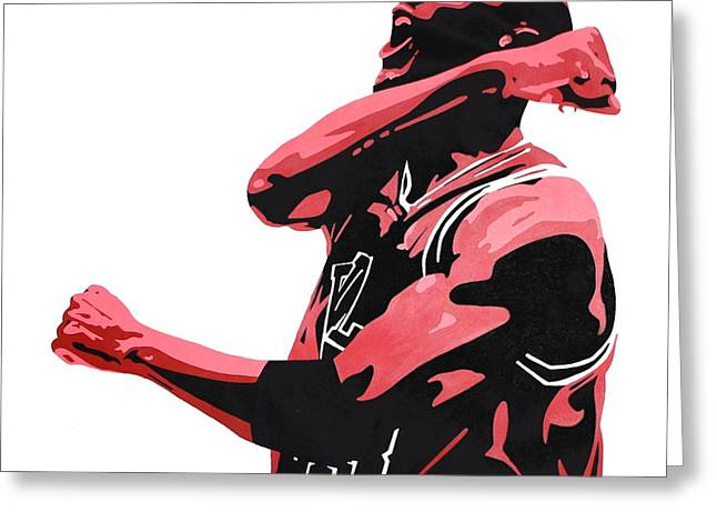 Chicago Bulls Greeting Cards - Michael Jordan Greeting Card by Michael Ringwalt