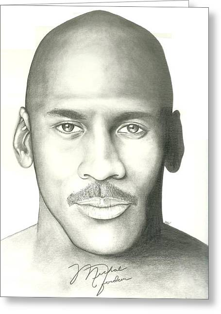 Michael Jordan Drawings Greeting Cards - Michael Jordan Greeting Card by Scott Williams