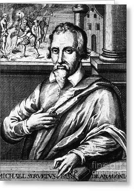 Miguel Drawing Greeting Cards - Michael Servetus, Spanish Polymath Greeting Card by Science Source