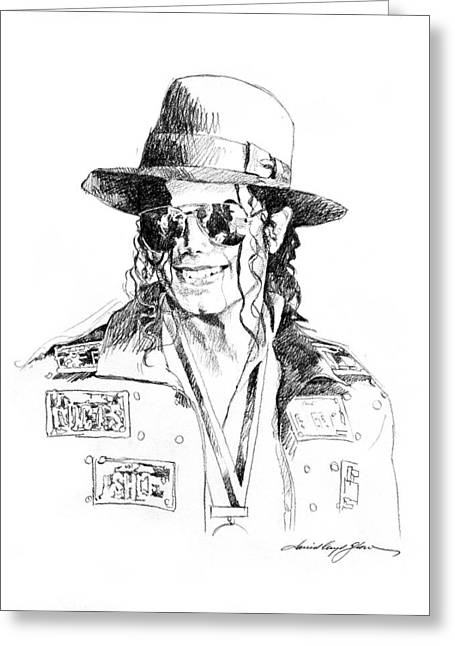 Most Drawings Greeting Cards - Michaels Jacket Greeting Card by David Lloyd Glover