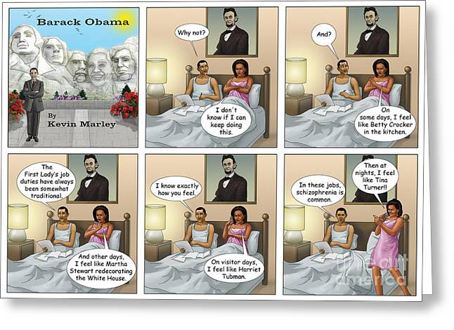 Michelle Obama Digital Greeting Cards - Michelles Crisis  Greeting Card by Kevin  Marley