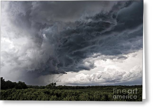 Lightning Bolt Pictures Greeting Cards - Michigan SuperCell Greeting Card by Joe Gee