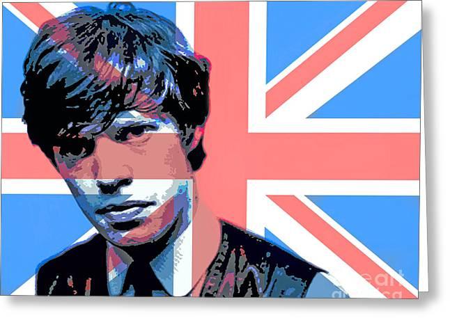 British Invasion Greeting Cards - Mick Jagger Carnaby Street Greeting Card by David Lloyd Glover