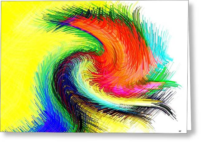 Intrigue Greeting Cards - Micro Linear 25 Greeting Card by Will Borden