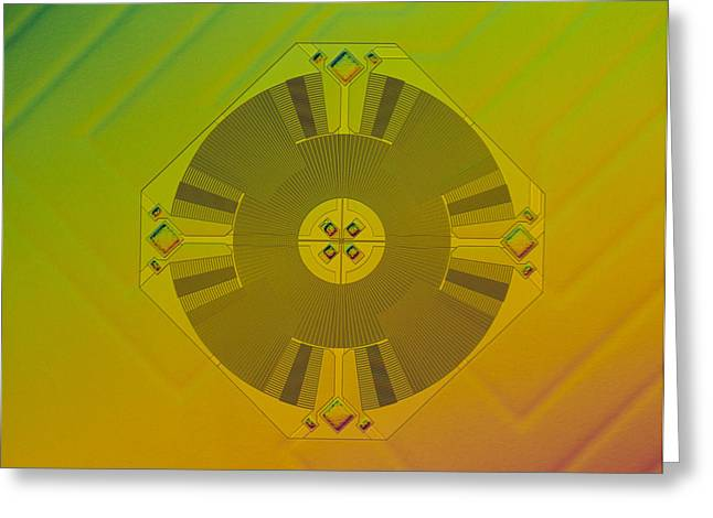 Micromechanics Greeting Cards - Micromechanical Accelerometer Greeting Card by Volker Steger