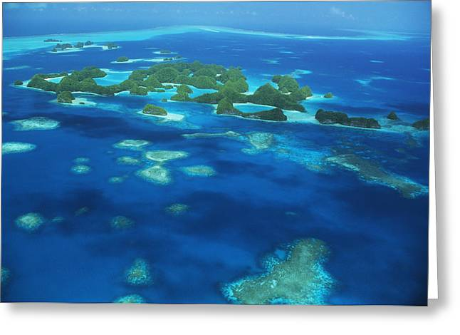 Far Above Greeting Cards - Micronesian Islands Greeting Card by Allan Seiden - Printscapes