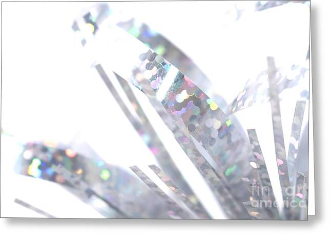 Sparkly Greeting Cards - Microtinsel Greeting Card by Andy Smy