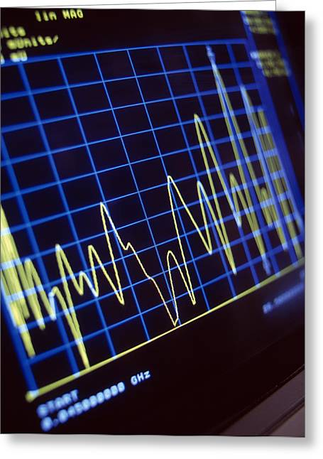 Electronics Industry Greeting Cards - Microwave Emission Test Greeting Card by Tek Image