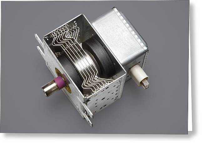 Microwave Oven Magnetron Greeting Card by Sheila Terry