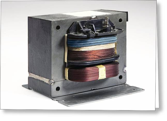 Direct Current Greeting Cards - Microwave Oven Transformer Greeting Card by Sheila Terry