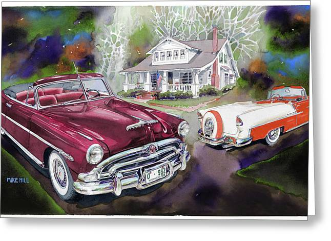 1955 Paintings Greeting Cards - Mid Century Classics Greeting Card by Mike Hill