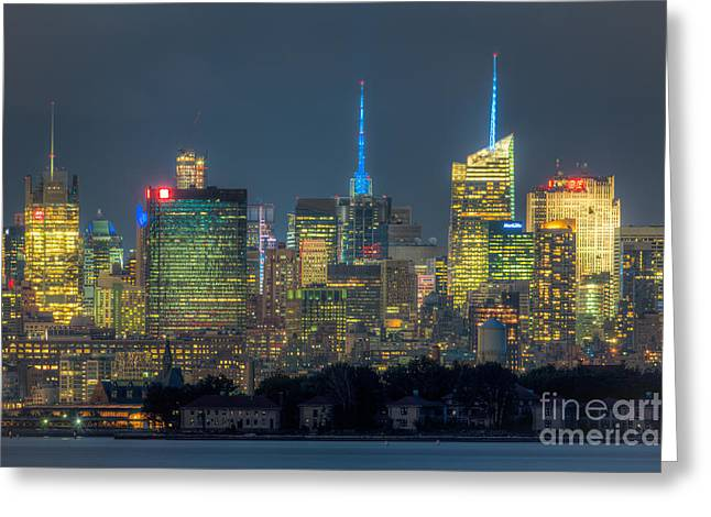 Nast Greeting Cards - Mid-town Manhattan Twilight I Greeting Card by Clarence Holmes