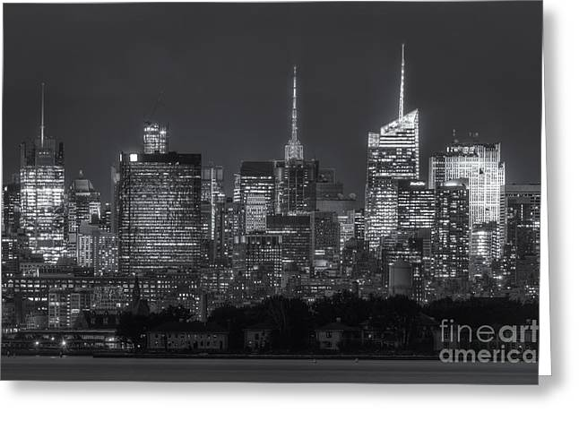 Nast Greeting Cards - Mid-town Manhattan Twilight II Greeting Card by Clarence Holmes
