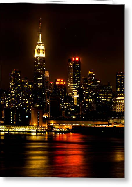 Gotham City Greeting Cards - Mid-town Views Greeting Card by David Hahn