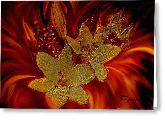 Digitalized Photograph Greeting Cards - Midas Touch Greeting Card by Sherri  Of Palm Springs