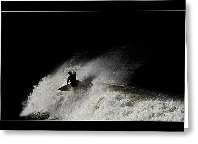 Surfing Photos Digital Art Greeting Cards - Midnight 02 Greeting Card by Kevin Chippindall