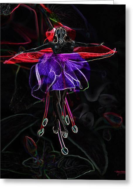 Best Sellers -  - Floral Digital Art Digital Art Greeting Cards - Midnight Bloom Greeting Card by Torie Tiffany