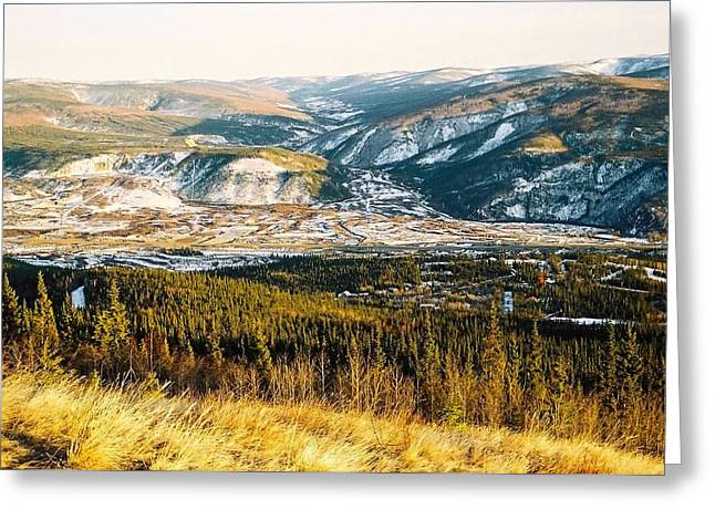 Midnight Dome - Dawson City Greeting Card by Juergen Weiss