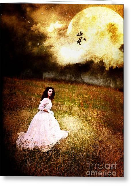 Night Terror Greeting Cards - Midnight Escape Greeting Card by Stephanie Frey