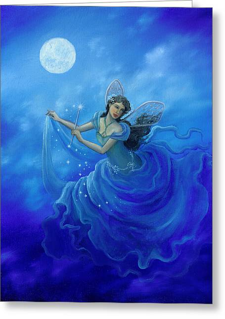Midnight Fairy Greeting Card by BK Lusk