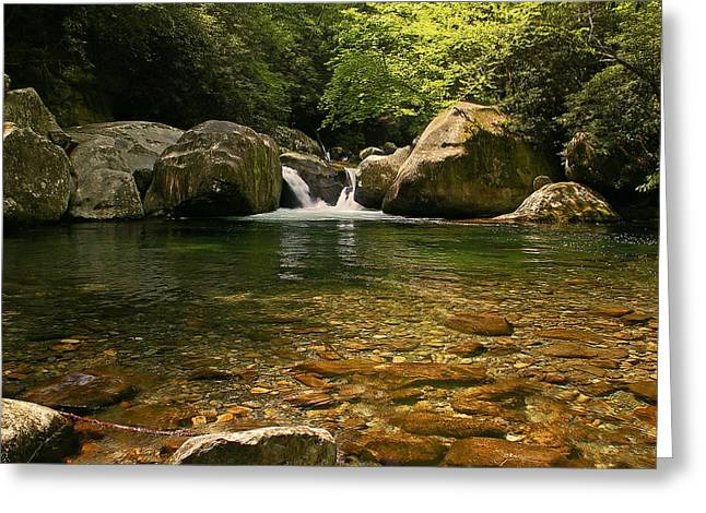 Gsmnp Greeting Cards - Midnight Hole in Big Creek Greeting Card by Ulrich Burkhalter